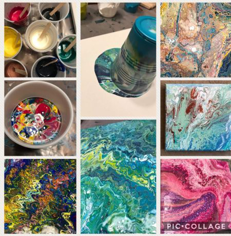 Fluid Art – Poured Acrylic Painting Party Hosted By LeAnn Reid
