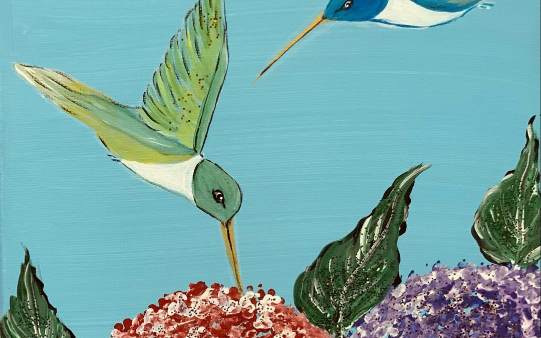 Hummingbird Painting Class Hosted by Carol Banville