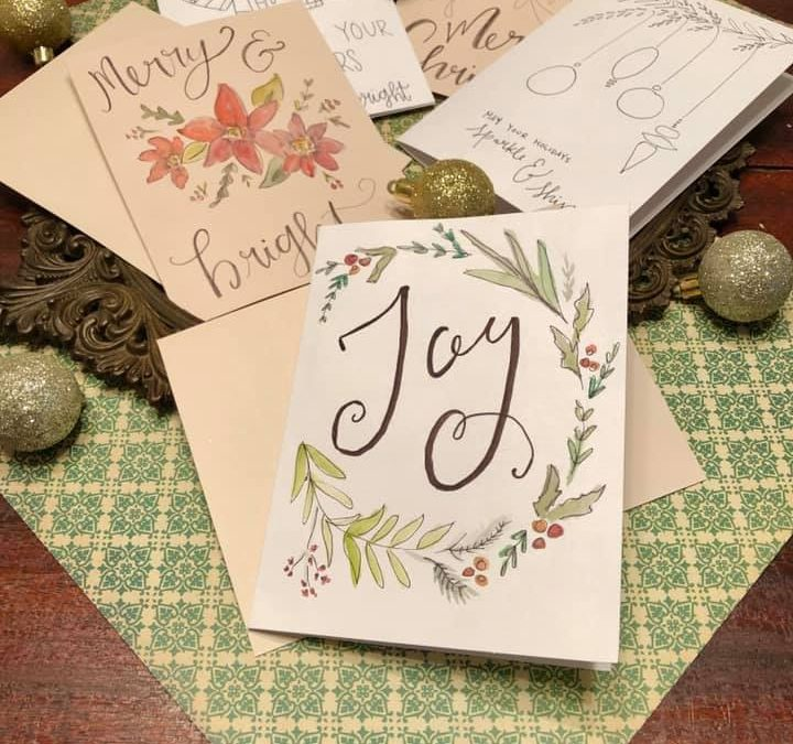 Christmas Card Watercolor Paint Night