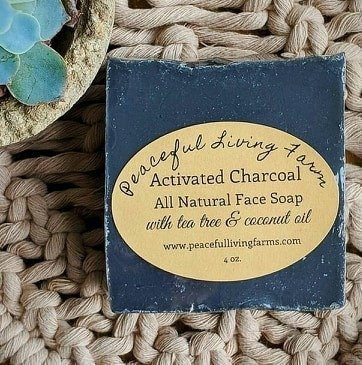 Peaceful Living Farms Activated Charcoal soap