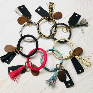 wristlet tassel key bangle