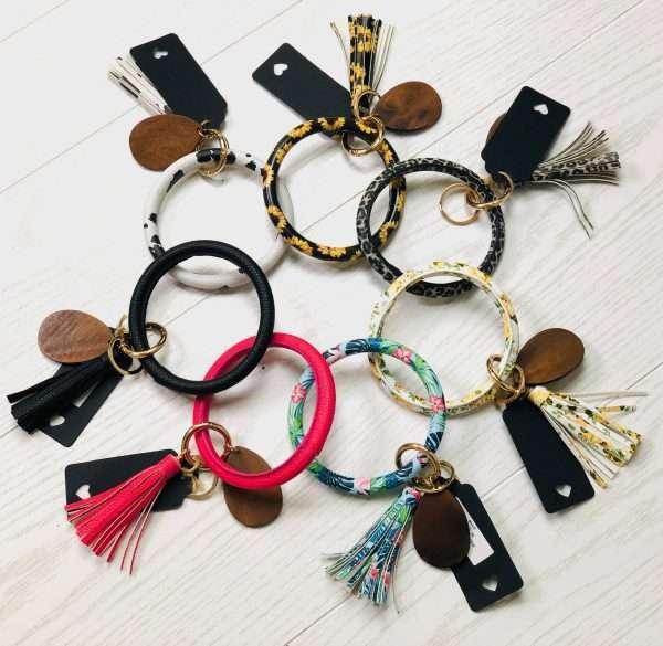 wristlet tassel key bangle
