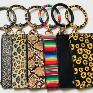 Bangle Wristlet wallet keychain