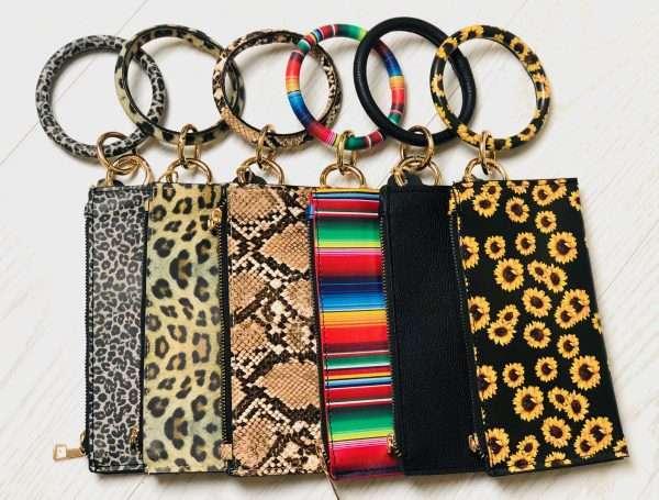 Bangle Wristlet wallet keychain