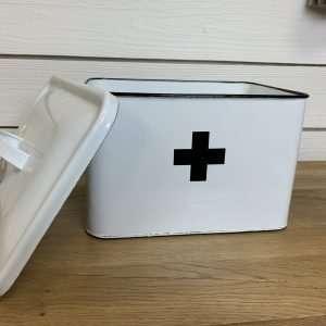 Enamel Swiss Cross Box