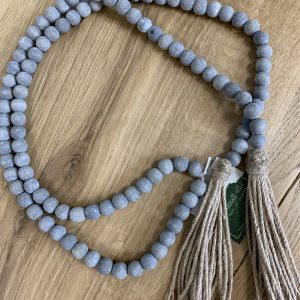 Gray Beads with Tassel 6""