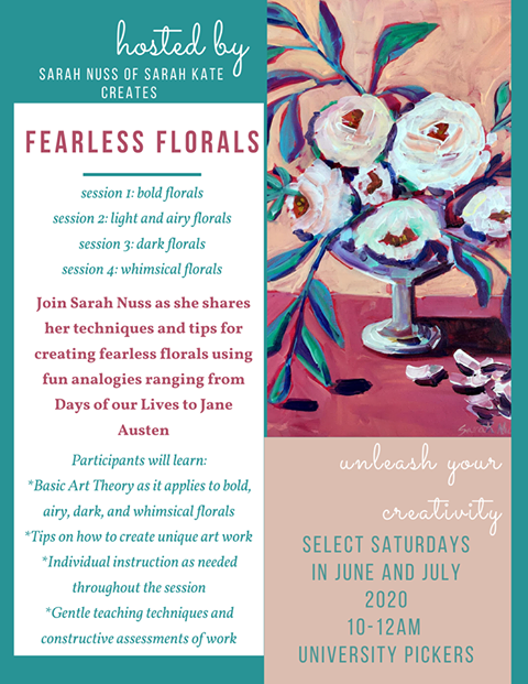 Fearless Florals Painting Series