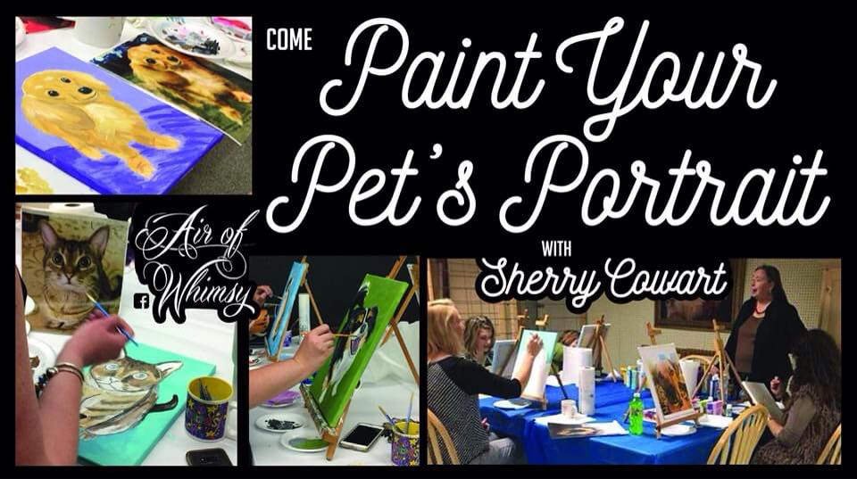 Paint Your Pet's Portrait Party Hosted by Sherry Cowart