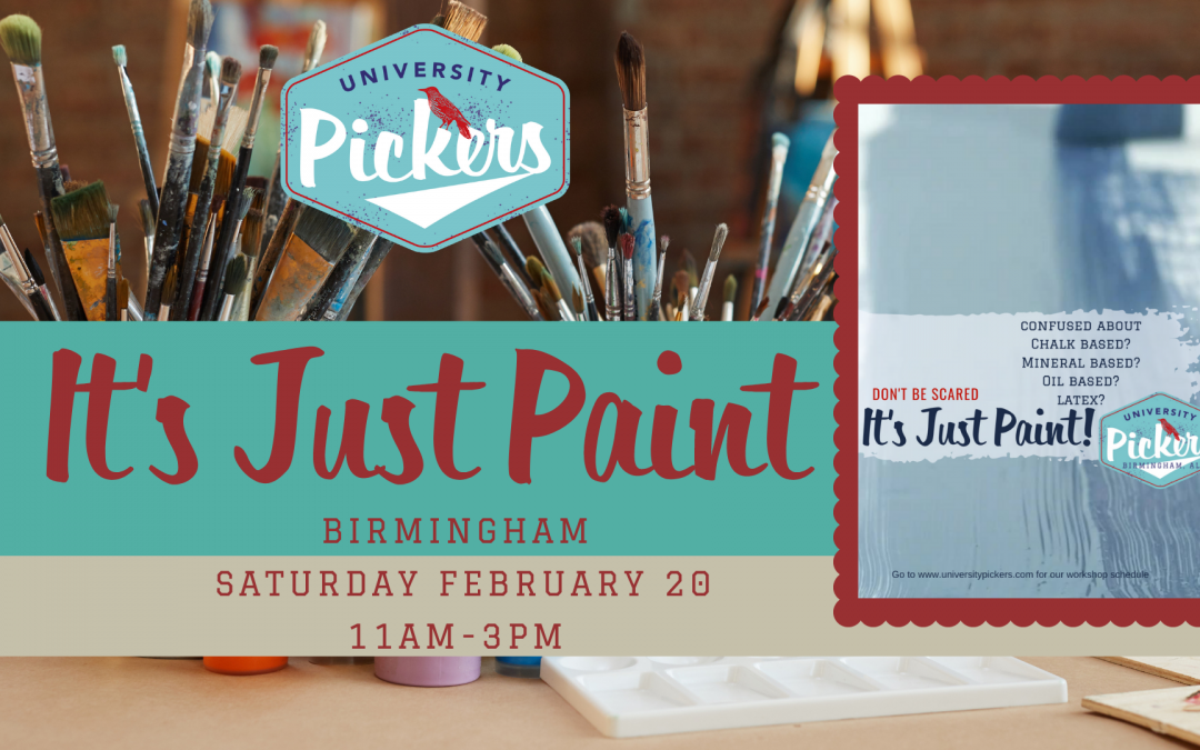 Furniture Painting Workshop-It's Just Paint Hosted By Trish Gleason Leeds Store