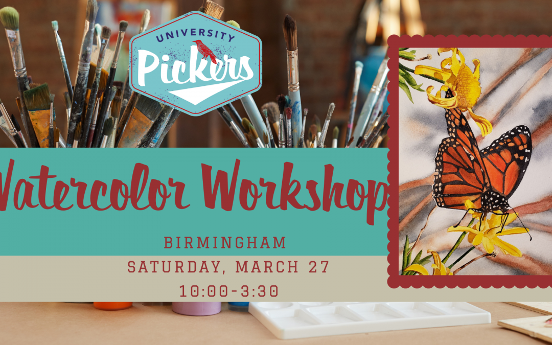 Watercolor Workshop:  Dean's Monarch Taught by Gayle Jones