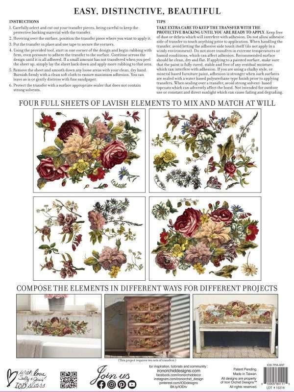 Floral Anthology back IOD Transfer
