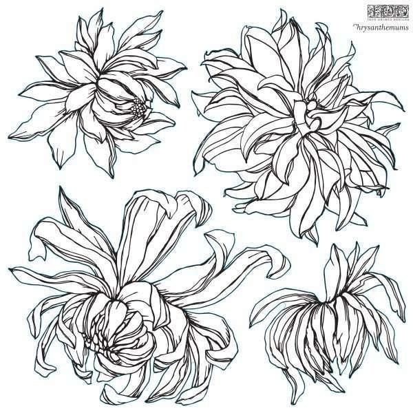 Chrysanthemums IOD Stamp
