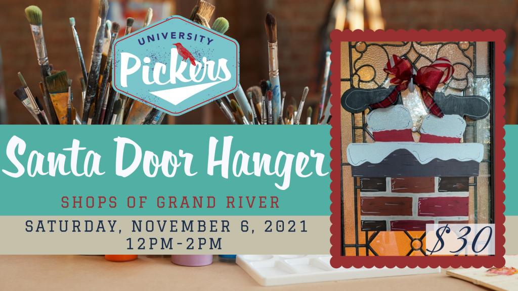 Santa Door Hanger Paint Party